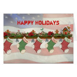 Christmas Military Mantle Cards