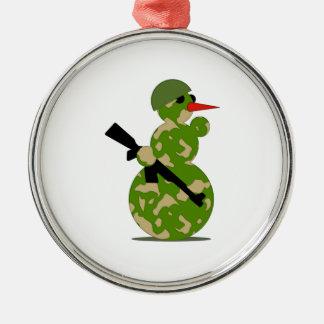 Christmas Military Snowman Ornaments