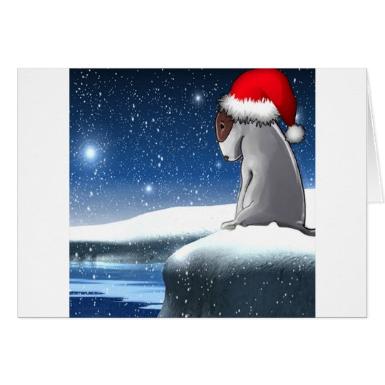 Christmas Milo (The Bull Terrier Puppy) Card