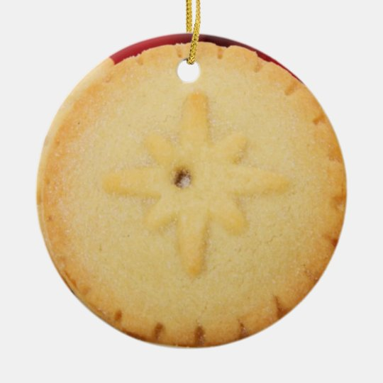 Christmas Mincemeat Pie One Sided Ornament
