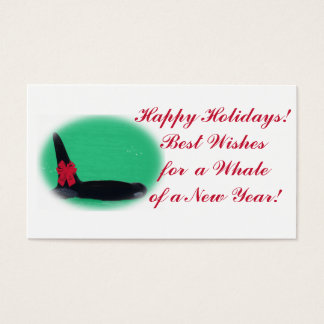 Christmas Mini Orca Killer Whale Holiday Cards 3x2