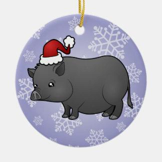 Christmas Miniature Pig Christmas Ornament