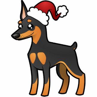 Christmas Miniature Pinscher / Manchester Terrier Photo Sculpture Decoration