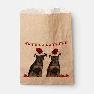 Christmas Miniature Pinschers Favour Bags