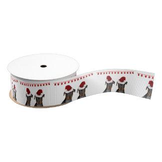 Christmas Miniature Pinschers Grosgrain Ribbon