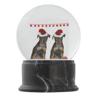Christmas Miniature Pinschers Snow Globes