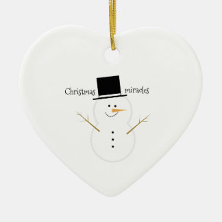 Christmas Miracles Ceramic Heart Decoration