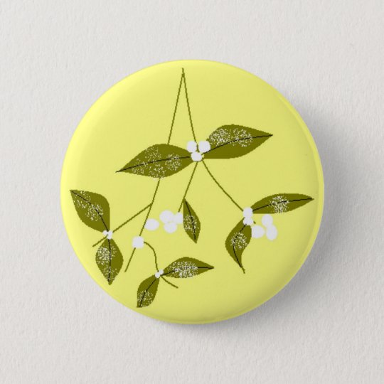 Christmas Mistletoe 6 Cm Round Badge