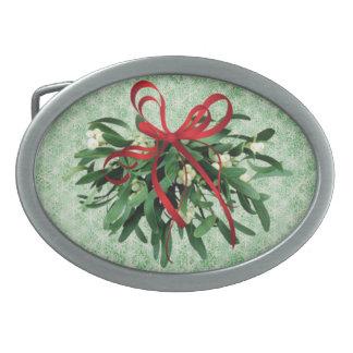 Christmas Mistletoe Belt Buckle