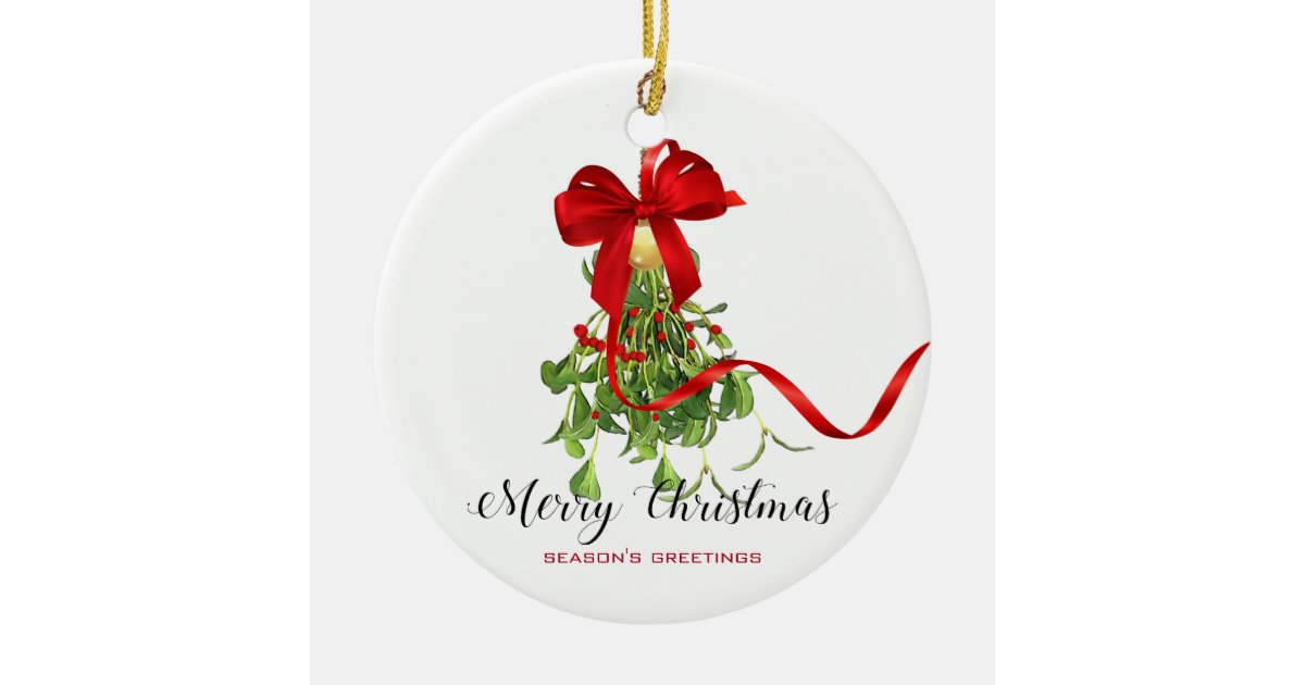 Christmas Mistletoe Christmas Ornament | Zazzle.co.uk