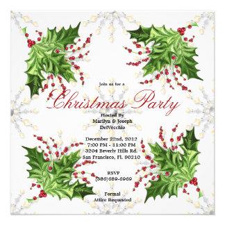 Christmas Mistletoe Holiday Party Invite