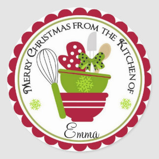Christmas Mixing Bowls and Baking Mit Stickers