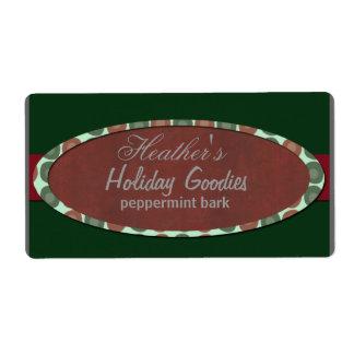 Christmas modern  bakery label