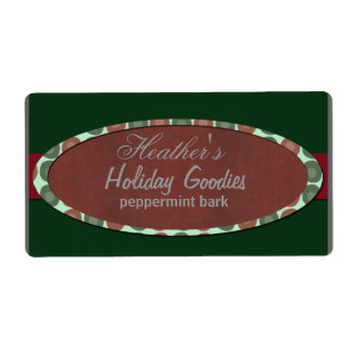 Christmas modern  bakery label shipping label