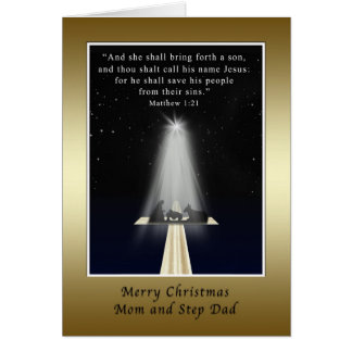 Christmas, Mom and Step Dad,  Religious Greeting Card
