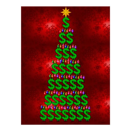 Christmas Money Tree Poster