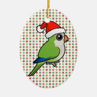 Christmas Monk Parakeet Christmas Ornament