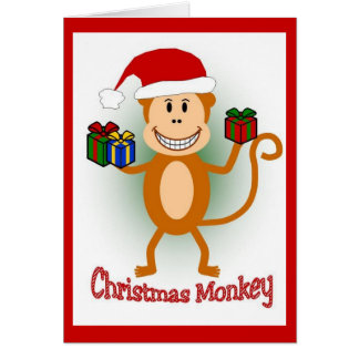 Christmas Monkey Card