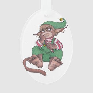 Christmas Monkey Gnome Ornament
