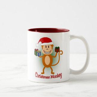 Christmas Monkey mug