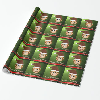 Christmas Monkey Wrapping Paper