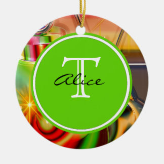 Christmas Monogram Christmas Ornament