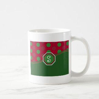 Christmas Monogram Mug