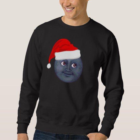 Christmas Moon Emoji Pull Over Sweatshirt