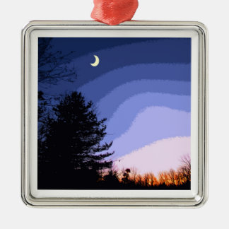 Christmas Moon Ornament