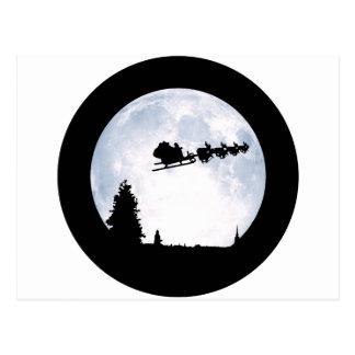 Christmas Moon Postcard