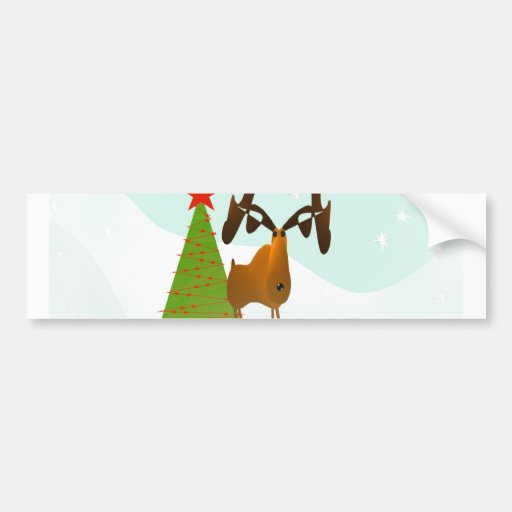 Christmas Moose Bumper Stickers
