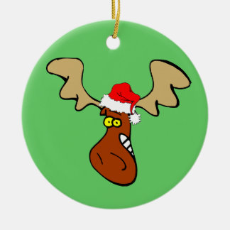 Christmas moose christmas ornament
