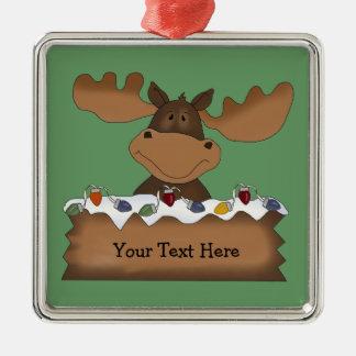 Christmas Moose (customizable) Christmas Ornament