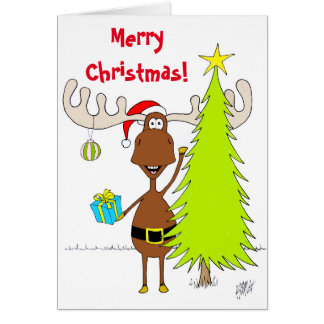 Christmas: Moose (Happy) Card