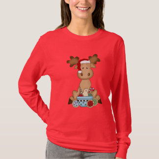 Christmas moose Holiday Nano Long Sleeve t-shirt