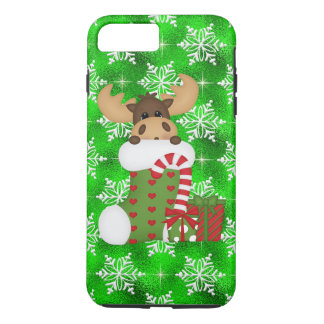 Christmas Moose iPhone 7 plus tough case