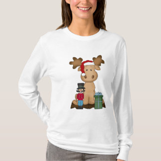 Christmas Moose Nano Long Sleeve t-shirt