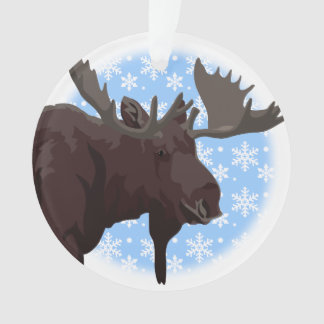 Christmas Moose Ornaments Custom Holiday Ornament