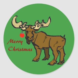 Christmas Moose Stickers