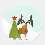 Christmas Moose Stickers
