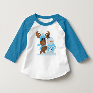 Christmas Moose toddler boys t-shirt