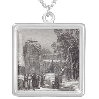 Christmas morning: Going to Church Silver Plated Necklace