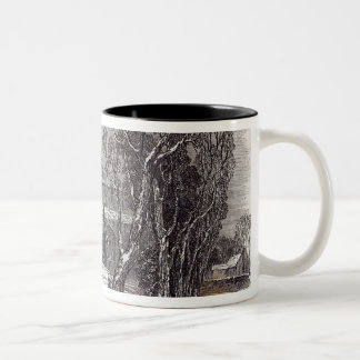 Christmas morning: Going to Church Two-Tone Coffee Mug
