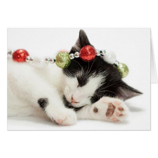 Christmas Morning Kitten Card