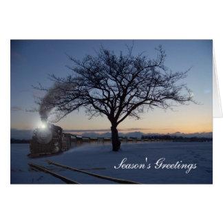 Christmas Morning Train Card