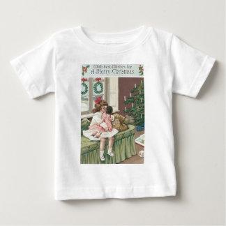 Christmas Morning Tree Present Girl Doll T Shirts