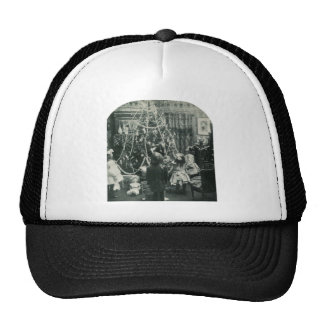 Christmas Morning - Vintage Stereoview Mesh Hats