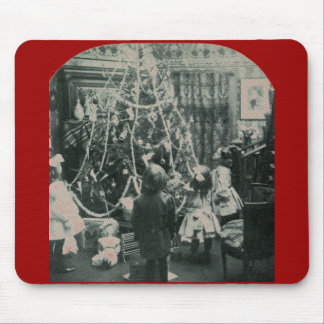 Christmas Morning - Vintage Stereoview Mouse Pad