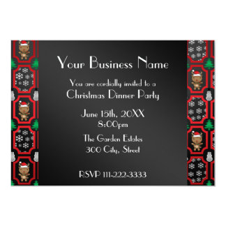 Christmas moroccan reindeer Business invitation