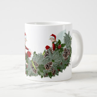Christmas mosquito large coffee mug